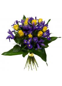 Irisy a růže