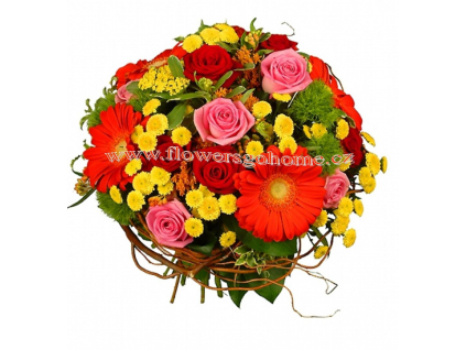 Dárková kytice z gerber