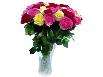Barevná kytice růží