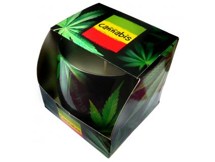 Svíčka ve skle Cannabis