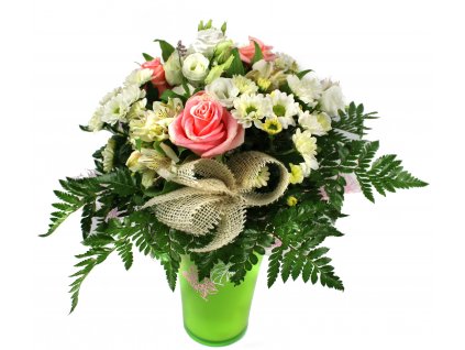 Květina s vázou