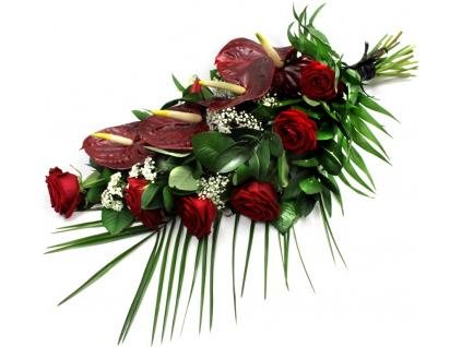 Smuteční kytice anthurie