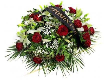 Smuteční dekorace růže / lilie