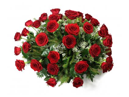 Smuteční květinová dekorace