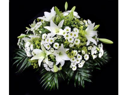 Smuteční dekorace lilie / santini