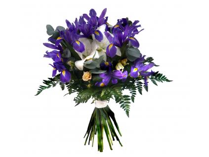 Kytice s irisy