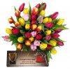 """Valentýnské tulipány  + čokoláda """"Z lásky"""""""