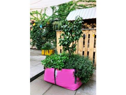 The green bag L růžová Hrušeň jahody a bylinky