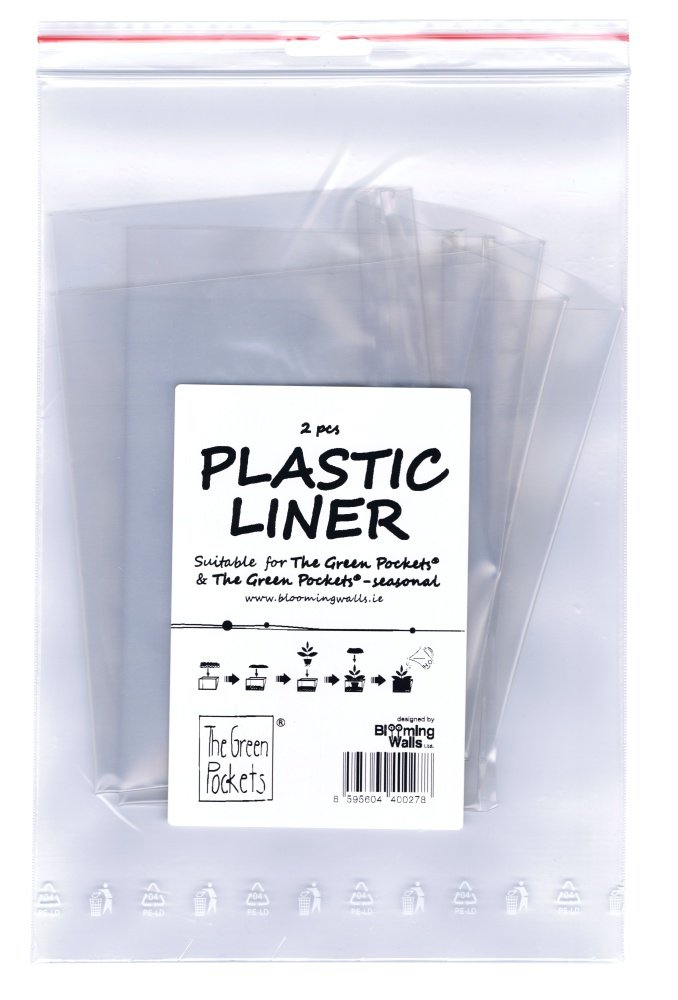 The Green Pockets AMMA - závěsný obal na květináče Vložka plastová - náhradní 2ks