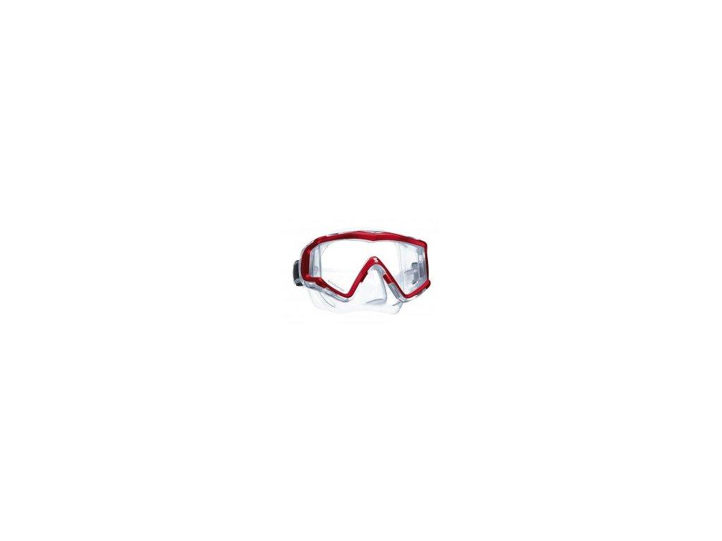 Maska Scubapro Crystal Vu červená