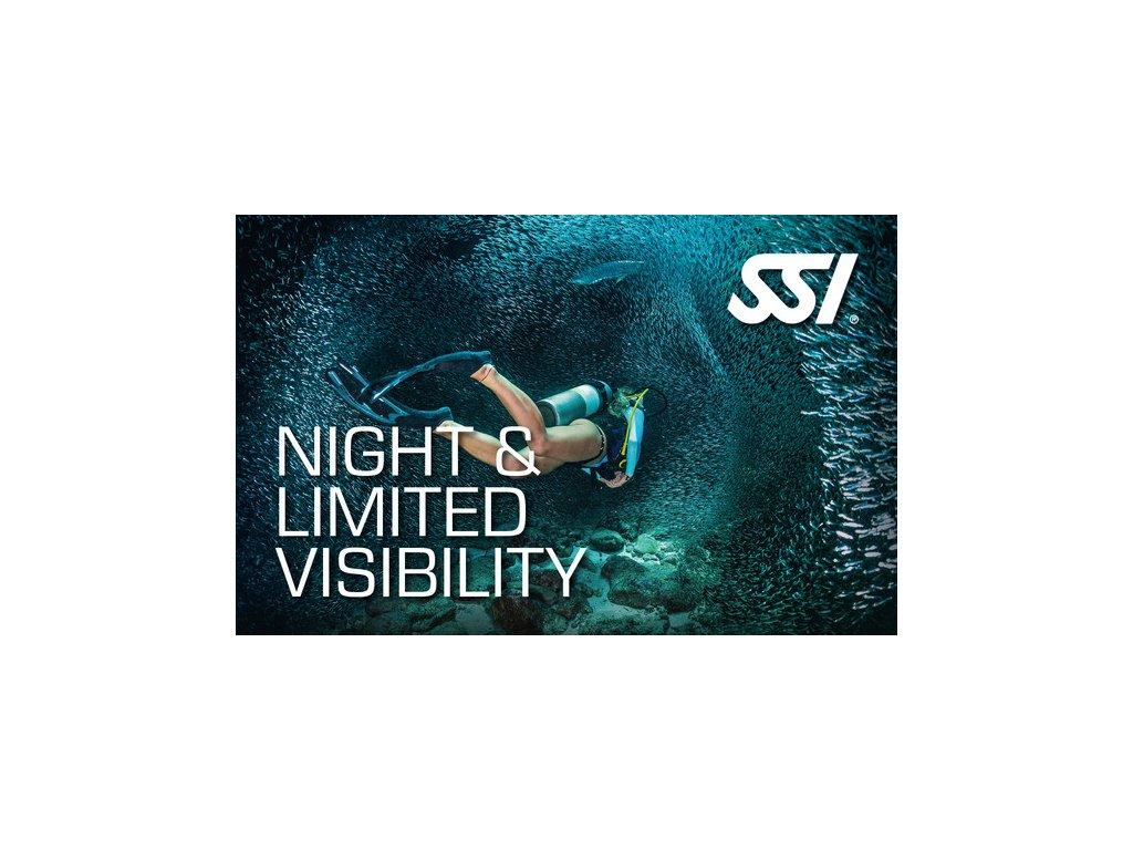 Kurz potápění v noci a omezené viditelnosti SSI Night & Limited Visibility