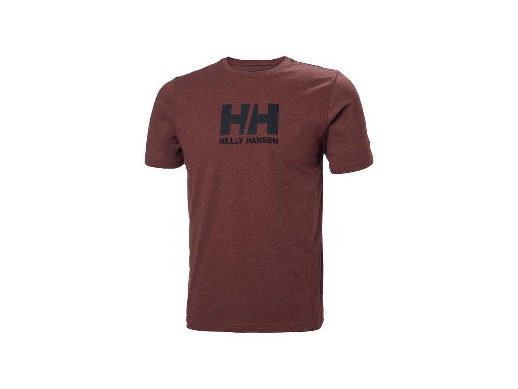 Pánské triko HH LOGO T SHIRT REDWOOD MEL