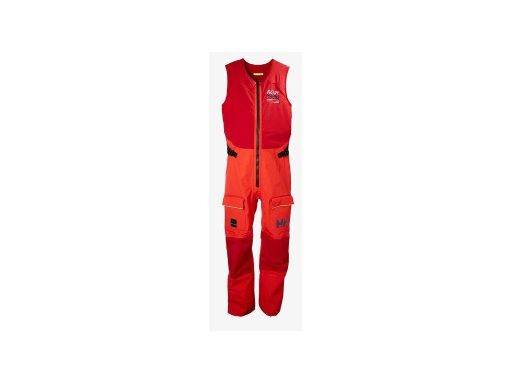 Pánské jachtařské kalhoty HH AEGIR RACE SALOPETTE ALERT RED