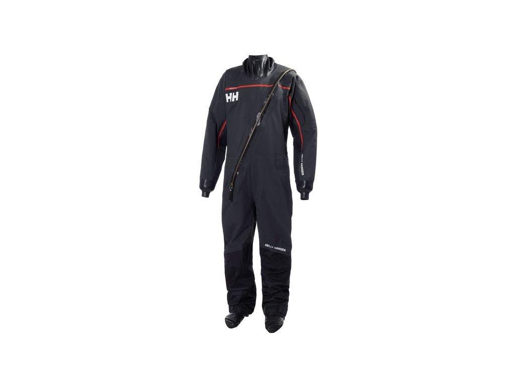 Pánský jachtařský suchý oblek HP DRYSUIT 2 EBONY