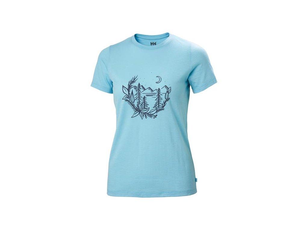 Dámské triko HH MERINO GRAPHIC TSHIRT, glacier blue