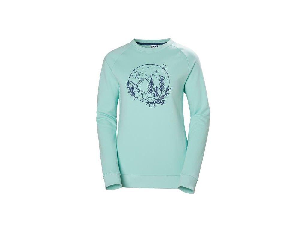 Dámský svetr HH F2F COTTON SWEATER, BLUE TINT