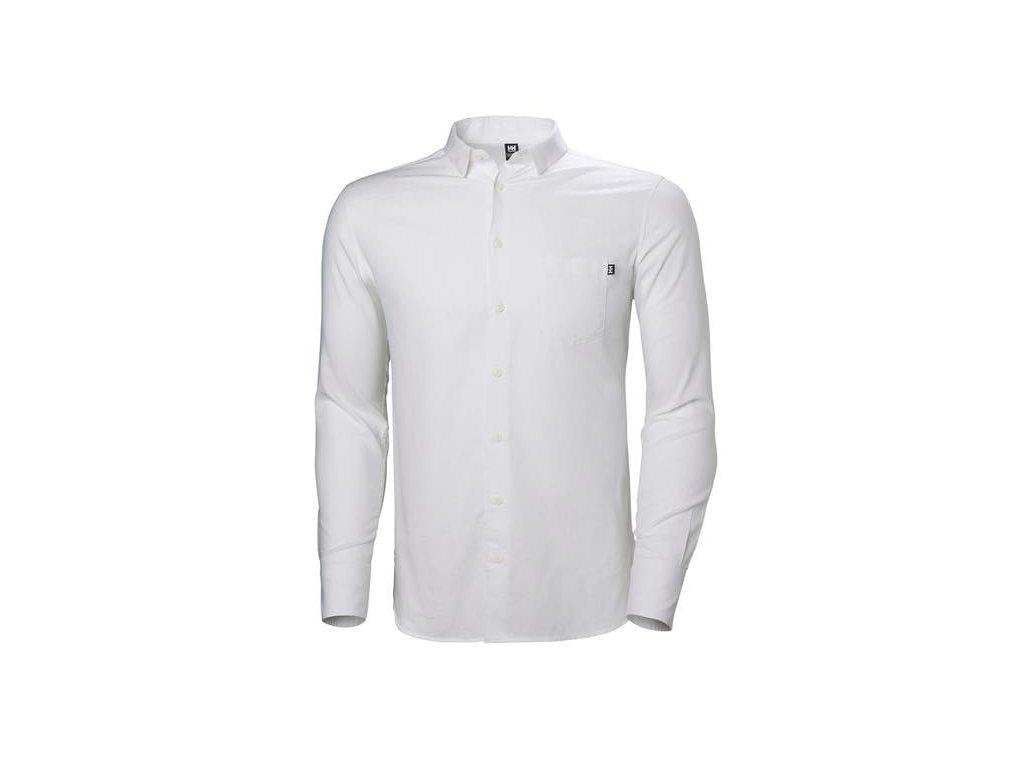 Pánská bavlněná košile HH CREW CLUB LS SHIRT WHITE