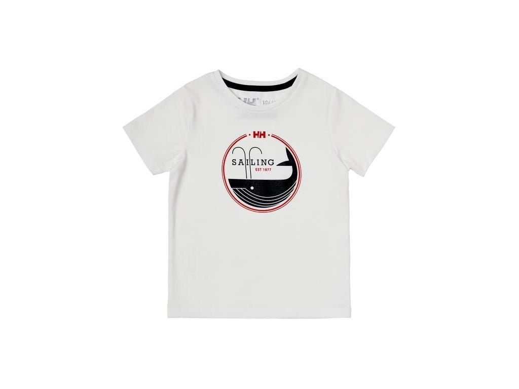 Dětské tričko HH K GRAPHIC QUICK DRY T SHIRT WHITE