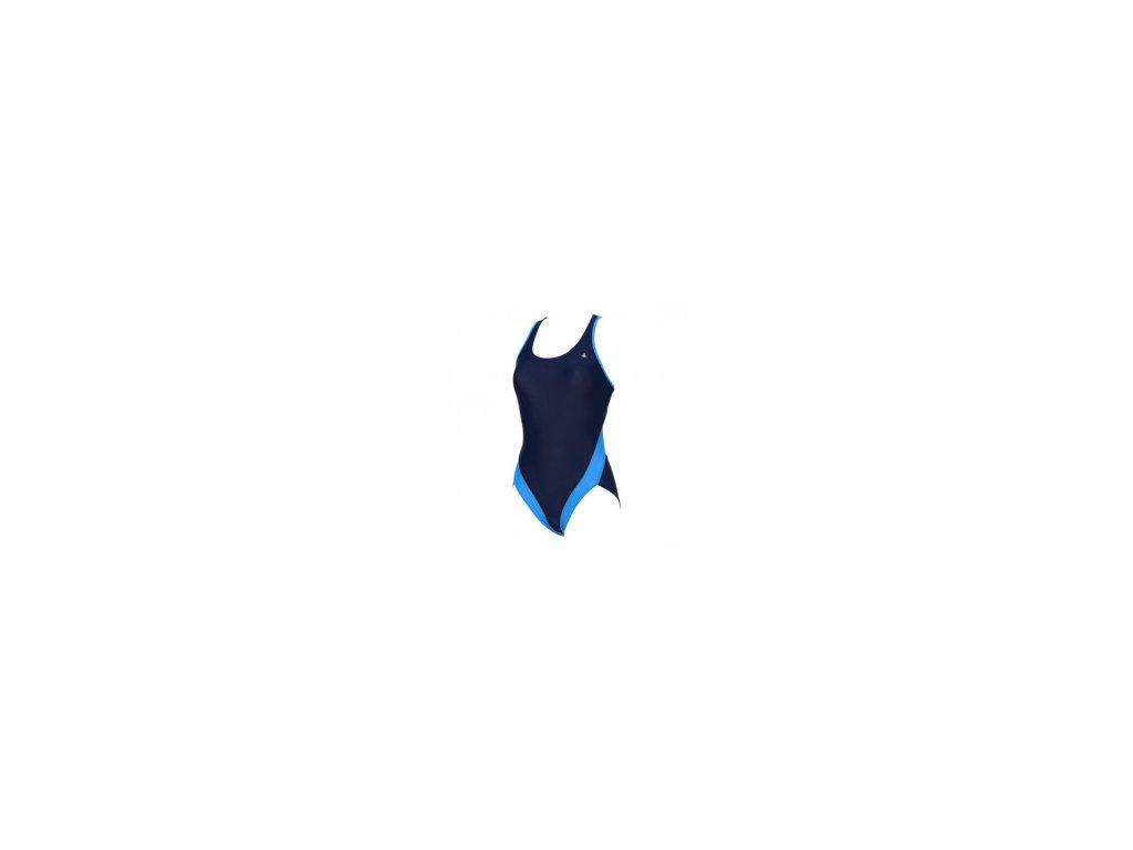 Plavky AqSp MADONNA nám.modrá dámské jednodílné