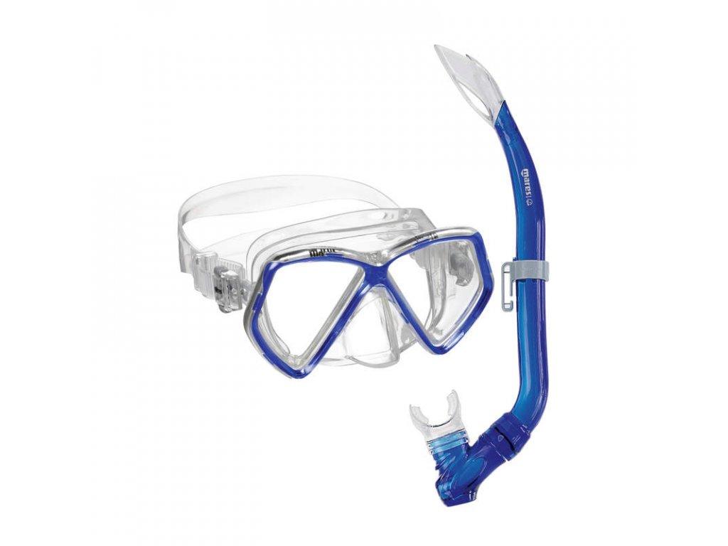 Set Mares PIRATE (maska+šnorchl), dětský, modrý