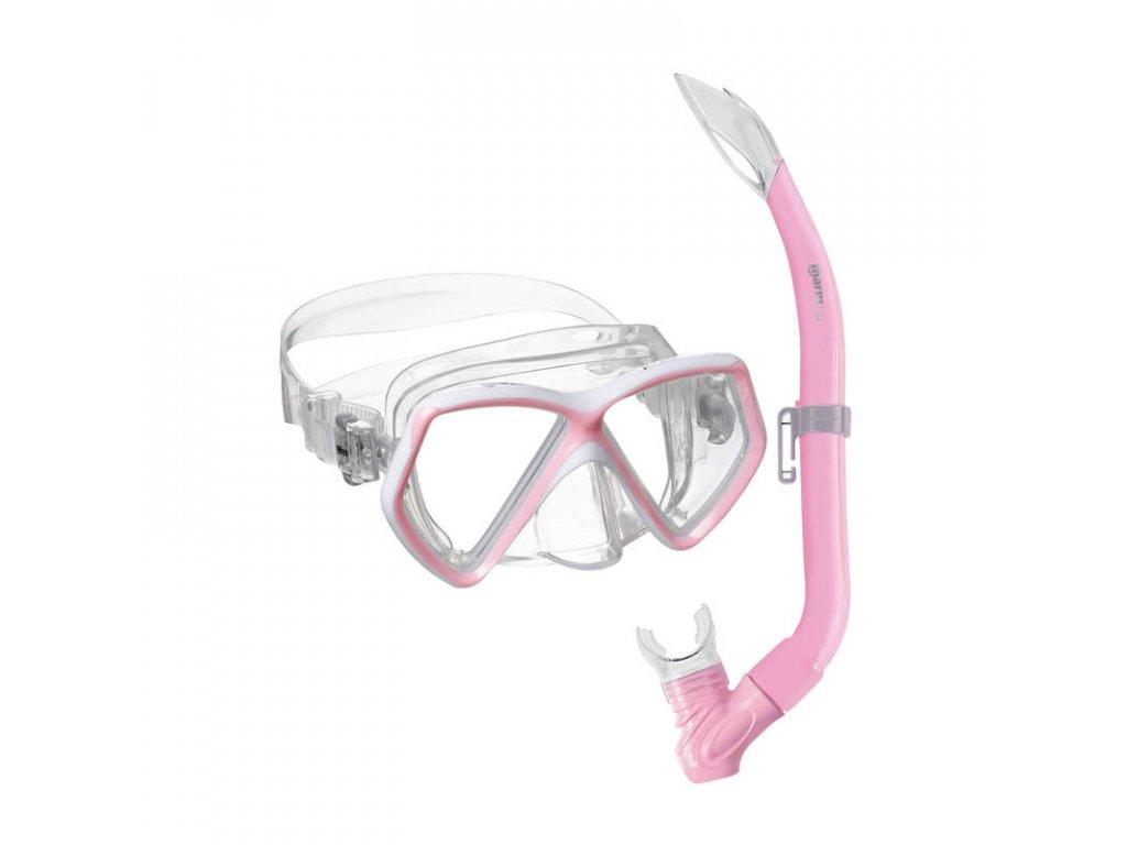 Set Mares PIRATE (maska+šnorchl), dětský, růžový