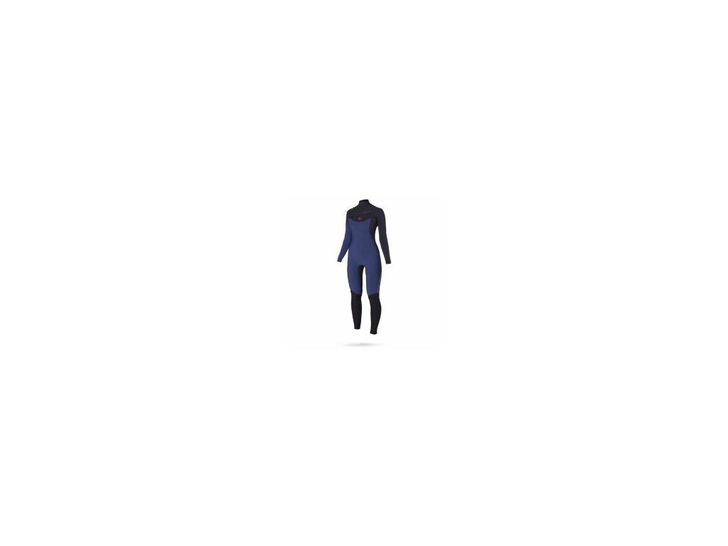 Neoprenový oblek Magic Marine Ace F zip 4 3 D L Fullsuit dámský modrý