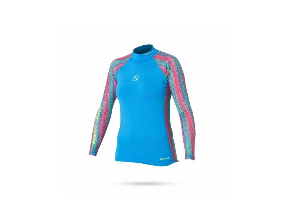Funkční triko s dlouhým rukávem Magic Marine Energy Rash Vest L S Women, Blue