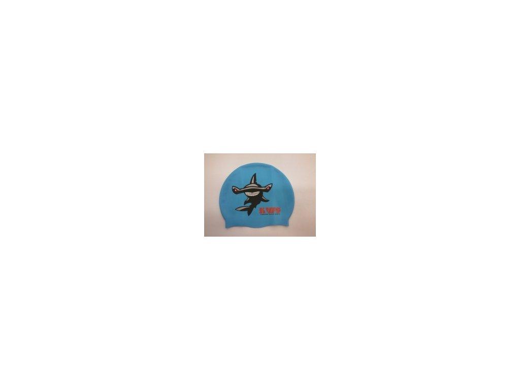 Plavecká čepice KWS modrá