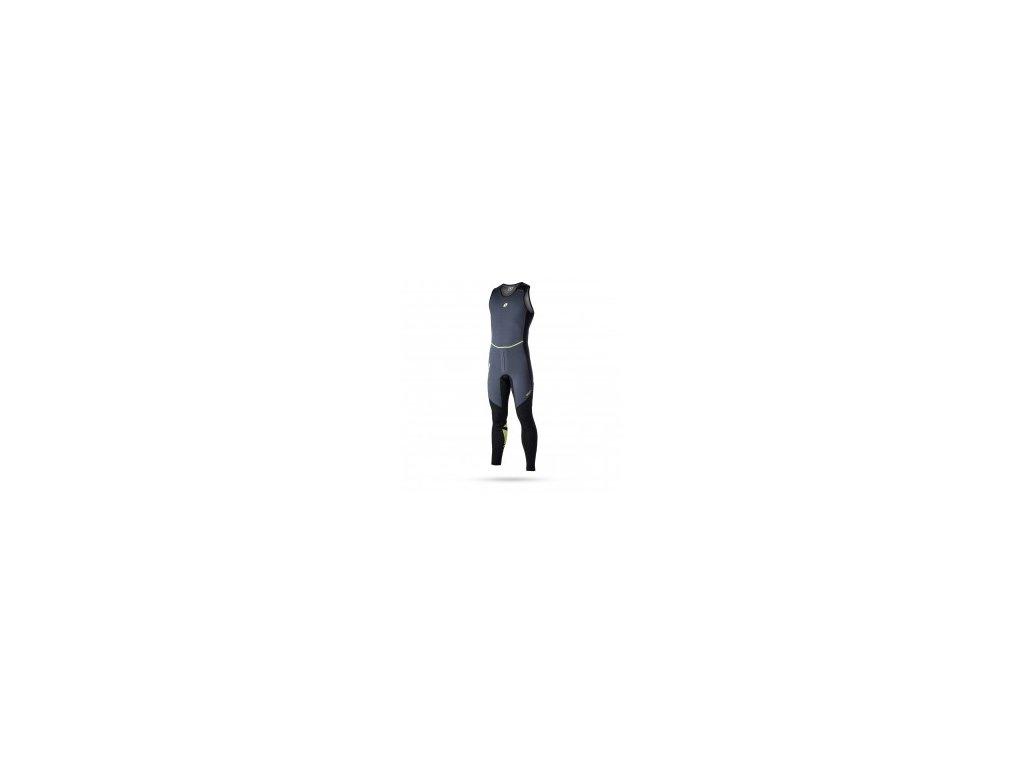 Neoprenový oblek bez rukávů Ultimate Long John 1,5 mm. Flatlock unisex, černý