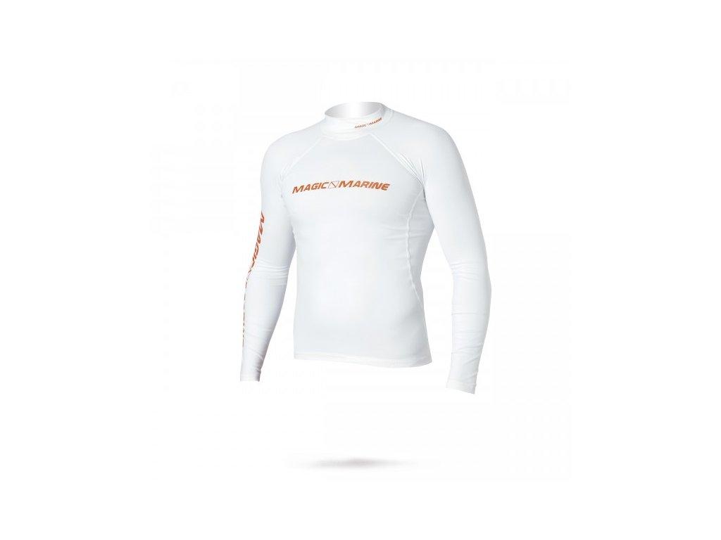 Funkční triko s dlouhým rukávem Magic Marine Cube Rash Vest L S bílé