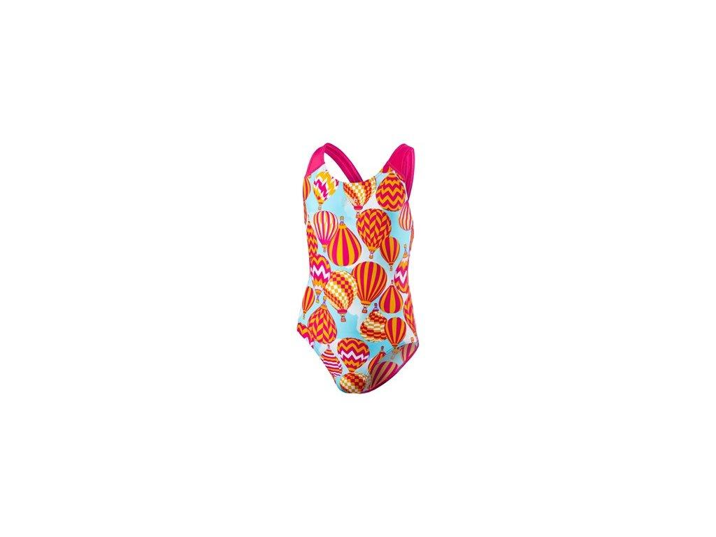 Plavky Speedo ALV SPBK V1 JF růžová modrá dívčí jednodílné