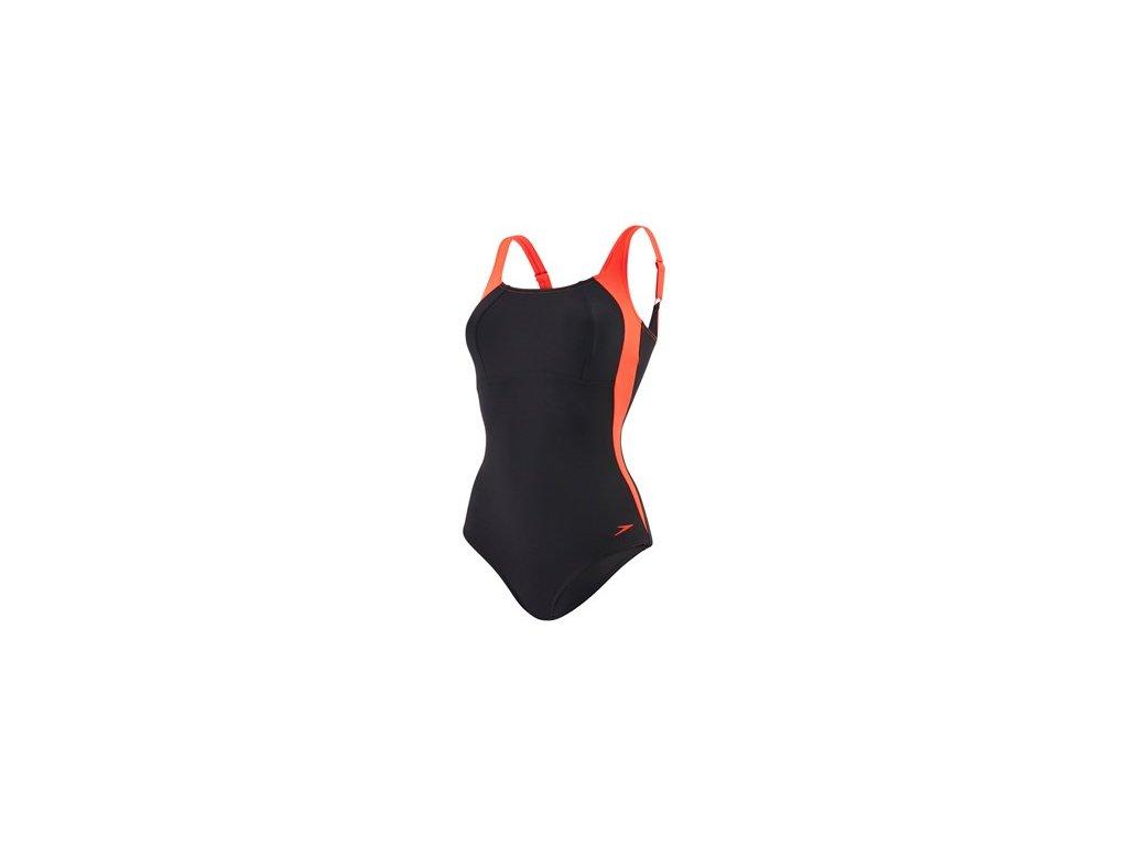 Plavky Speedo SPDSCU LUNALUSTRE 1PC AF černá dámské jednodílné