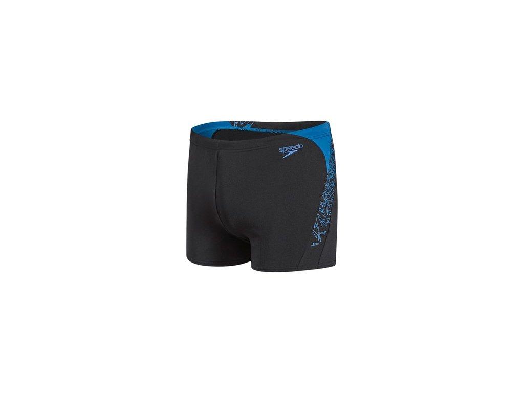 Plavky Speedo BOOM SPL ASHT AM černá modrá pánské s nohavičkou