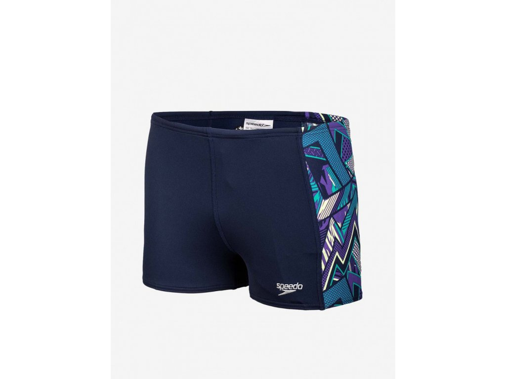 Plavky Speedo ALV PNL ASHT V3 JM tm. modrá fialová chlapecké s nohavičkou