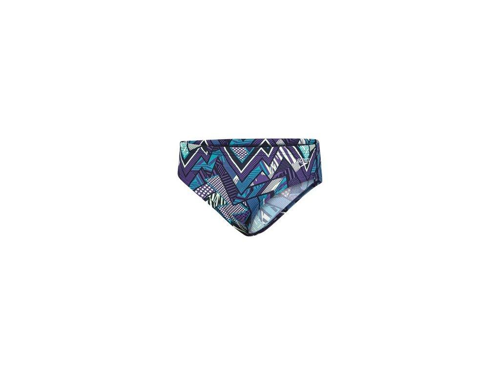 Plavky Speedo ALV 6.5CM BRF JM tm. modrá fialová chlapecké slipové