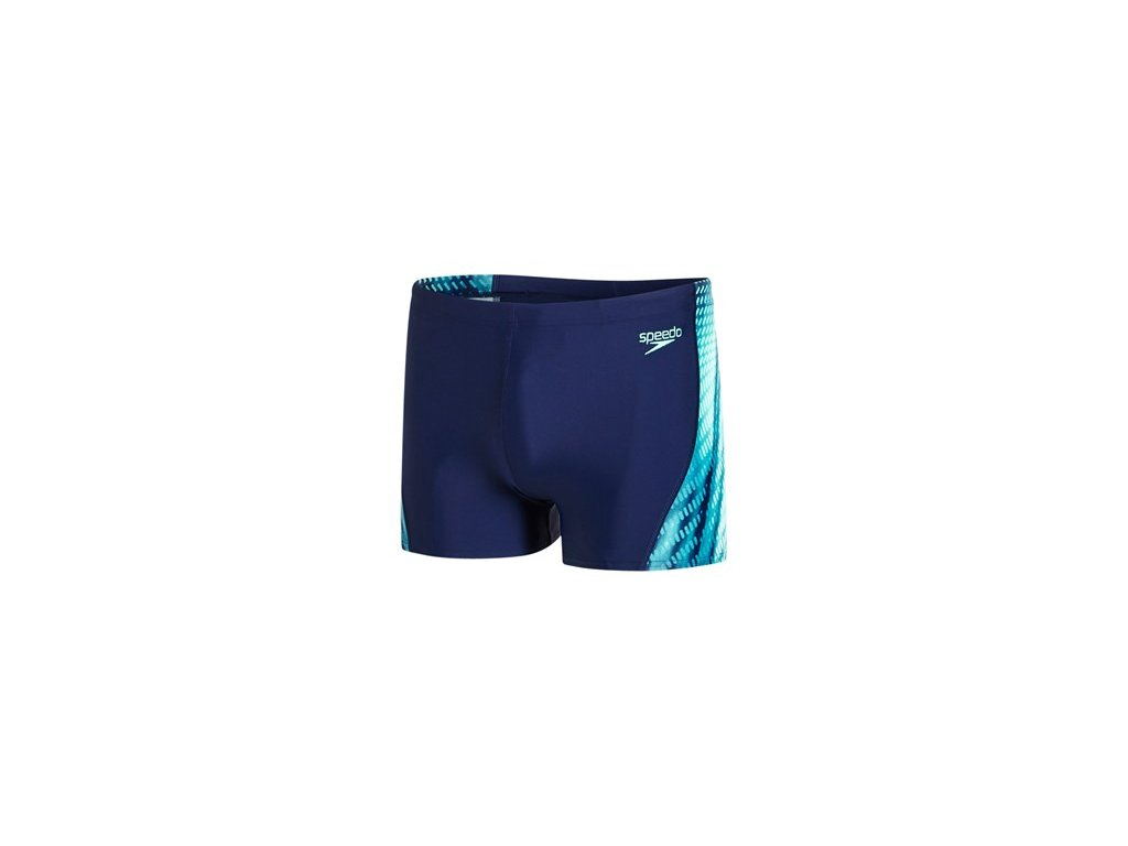 Plavky Speedo PLMT CURVE PN ASHT AM tm.modrá zelená pánské s nohavičkou