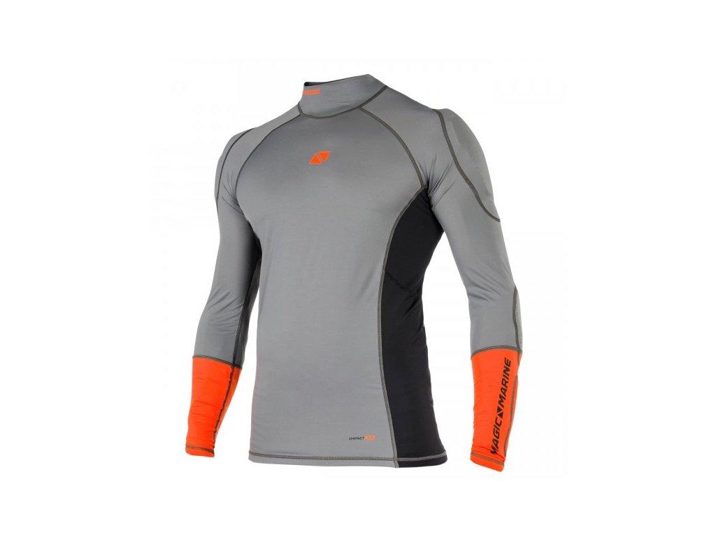 Funkční tričko s dlouhým rukávem Magic Marine Impact Pro Shirt Summer L S unisex, šedé