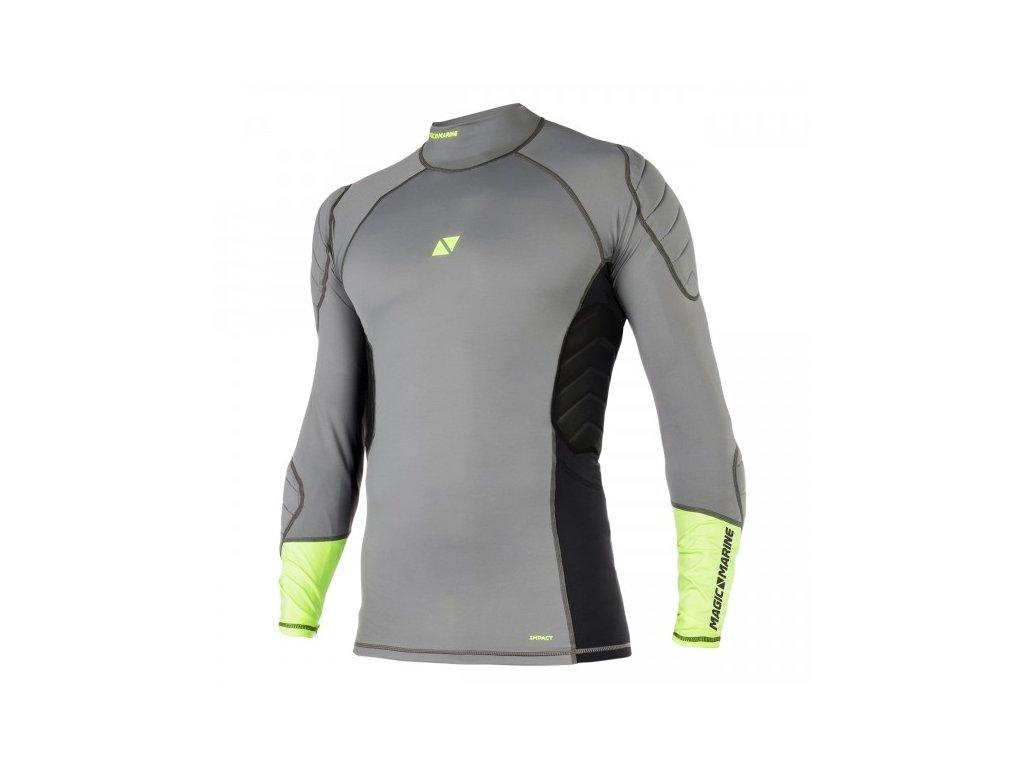 Funkční tričko s dlouhým rukávem Magic Marine Impact Shirt Basic L S unisex, šedé