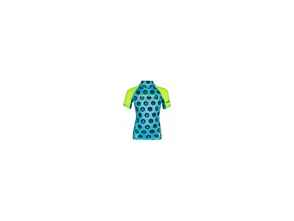 Funkční tričko s krátkým rukávem Magic Marine Cube Rashvest, žluté