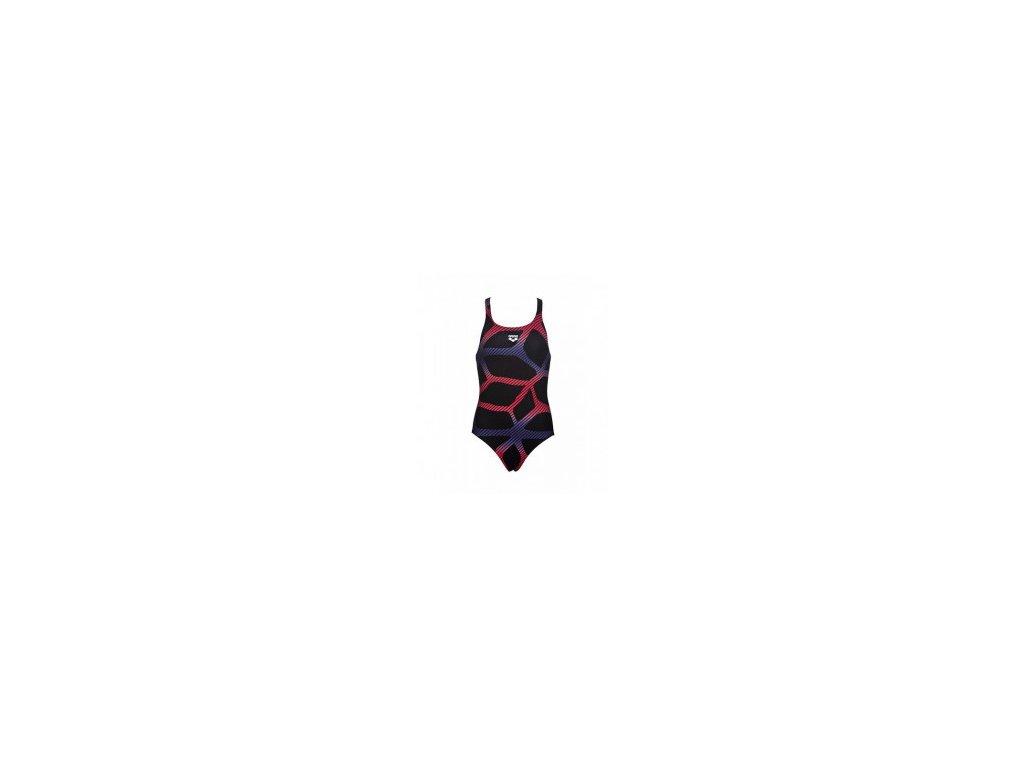 Plavky Arena G Spider Jr. one piece, dívčí, černá červená
