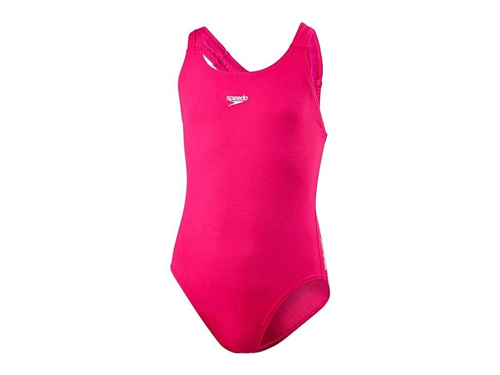 Plavky Speedo END+ MDLT 1PCE JF PINK, dívčí, růžové,