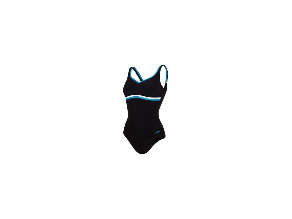 Plavky Speedo SPDSCU CONTOURLUXE 1PC AF, dámské jednodílné, černá modrá,