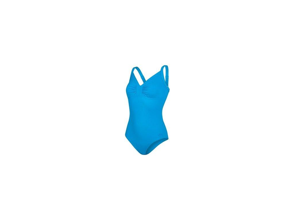 Plavky Speedo SPDSCU WATERGEM AJ AF BLUE, dámské jednodílné, modré,