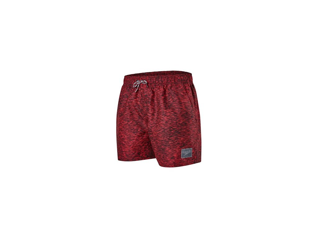 Plavky Speedo CASUAL PRT 14 WSHT AM BLK RED šortky pánské