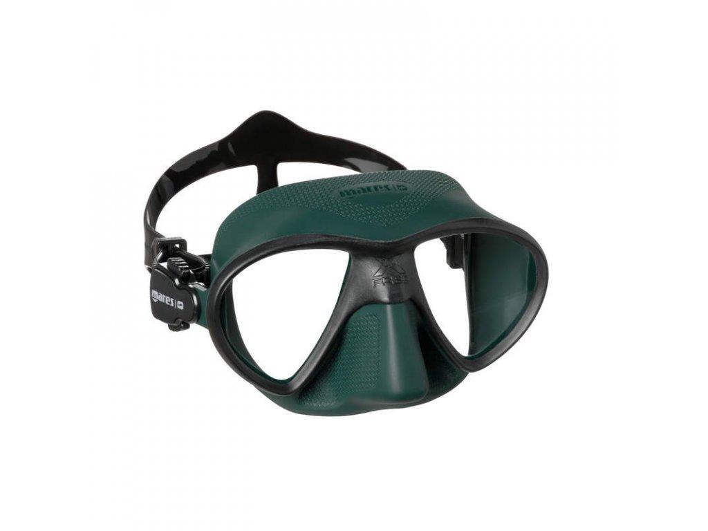 Maska Mares X FREE freedive, zelená