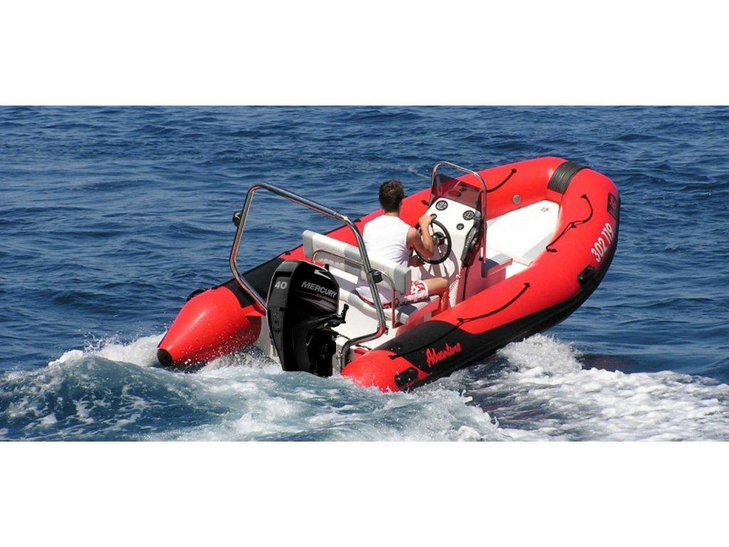 Nafukovací motorový člun s pevným kýlem KWS Adventure V 450