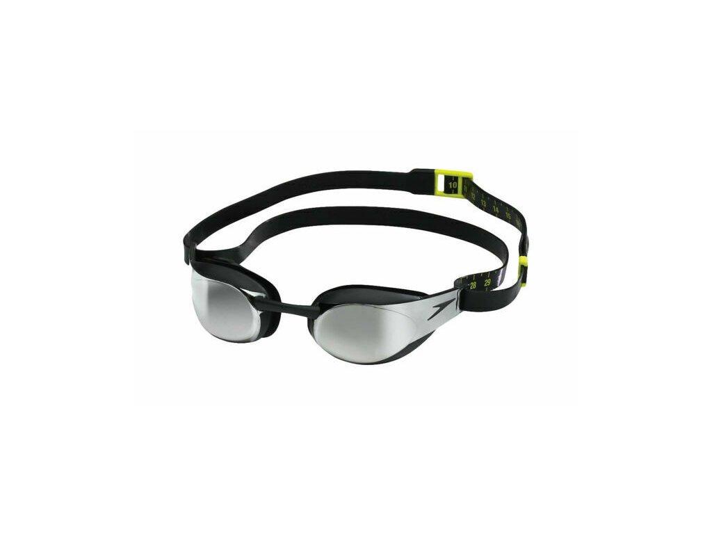 plavecké brýle Speedo Fastskin Elite Mirror Black Dark Chrome