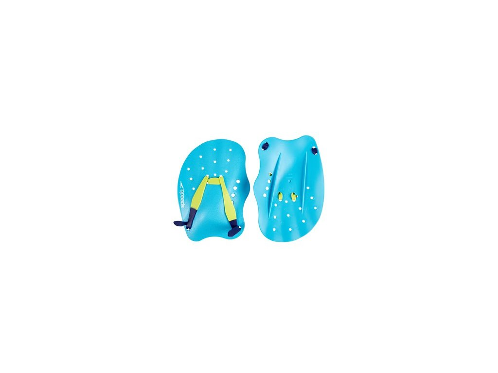 Plavecké packy Speedo TECH PADDLE Turquoise Lime Punch Ultramarine
