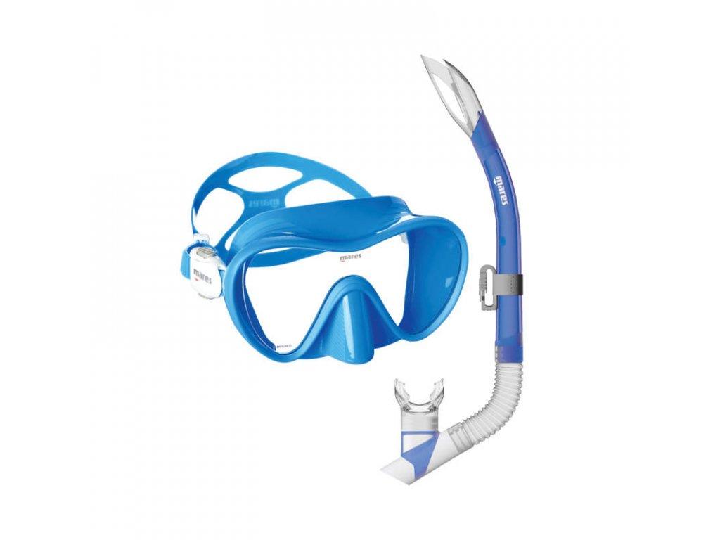 Set Mares TROPICAL (maska+šnorchl), modrý