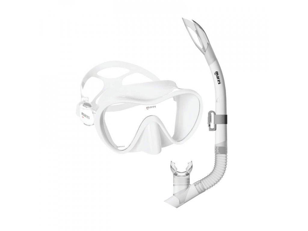 Set Mares TROPICAL (maska+šnorchl), bílý